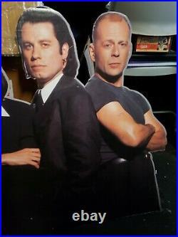 Vintage 1993 Pulp Fiction 35x27 Cardboard Movie Ad Film Display Promo Standee