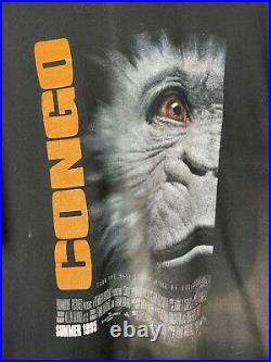 Vintage 1995 Congo Movie Graphic Poster Promo Tee Shirt Size Large