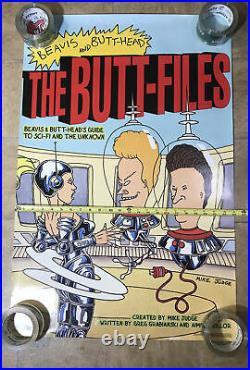 Vintage 1997 Beavis & Butthead The Butt-Files MTV Network #3313 Poster 35 x 23