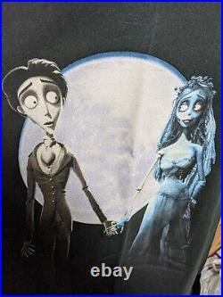 Vintage 2005 Tim Burton's Corpse Bride T Shirt Movie Promo Poster Medium