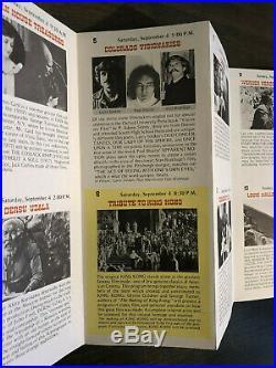 Vintage 3rd Annual 1976 Telluride Film Festival Poster & Playbill Genuine RARE