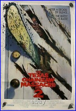 Vintage 80s Original Movie Poster The Texas Chainsaw Massacre Part 2 One Sheet