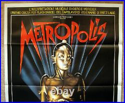 Vintage 84' METROPOLIS Movie Poster film art 1sh silent sci-fi Science fiction