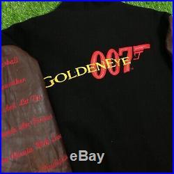 Vintage 90s GOLDENEYE 007 Jacket James Bond Leather Official MGM Movie rare Prop
