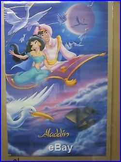 Vintage Aladdin Walt Disney movie poster 12415