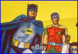 Vintage Australian Daybill, BATMAN MOVIE POSTER 1966. Original Burton Lithograph