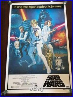 Vintage Australian Star Wars One Sheet Movie Poster