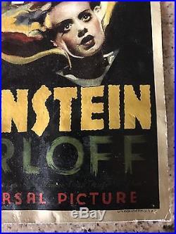 Vintage BRIDE OF FRANKENSTEIN Poster