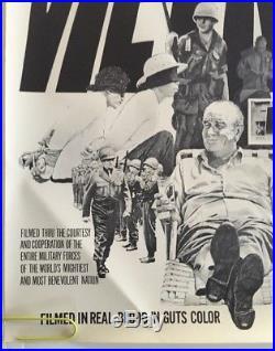 Vintage Blacklight Poster Vietnam Faux Movie Spoof Joke Nixon LBJ Anti war 1970s