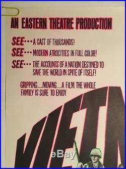 Vintage Blacklight Poster Vietnam Faux Movie Spoof Joke Nixon LBJ Anti war Peace