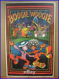 Vintage Boogie Woogie 1972 blacklight poster 3620