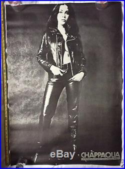 Vintage Chappaqua Movie Poster RARE Conrad Rooks Risqué Leather Hippy LSD 60s