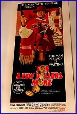 Vintage Clint Eastwood A FEW DOLLARS MORE Daybill Mint Linen Back