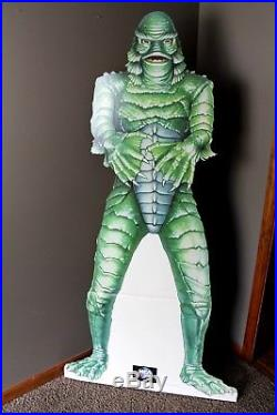 Vintage Creature From The Black Lagoon Movie Theater Cardboard Cut Out Display