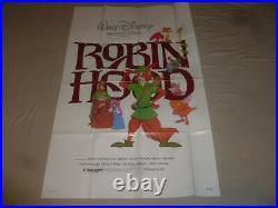 Vintage Disney Productions Robin Hood Movie Poster 1973 Original Rare R820016