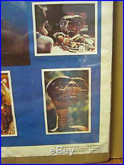 Vintage E. T. The Extra terrestrial 1982 movie poster Universal studios 999
