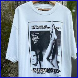 Vintage Ed Gein Deranged Movie Poster Horror Serial Kiler T-Shirt Size XL