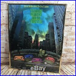 Vintage FRAMED Original 1990 Teenage Mutant Ninja Turtle Movie One Sheet Poster