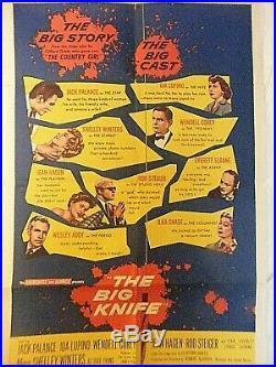 Vintage Film Poster The Big Knife Limited Edition Poster
