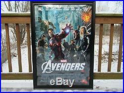 Vintage Framed Signed Stan Lee Avengers Movie Poster 2000 Spiderman Marvel Comic