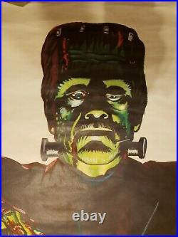 Vintage Frankenstein Poster Mail Order Comics 1960s Life Size
