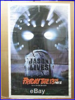 Vintage Friday the 13th part VI 1986 poster movie 12829