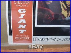 Vintage GIANT Movie Poster James Dean Rock Hudson Elizabeth Taylor 1986 Inv#G393