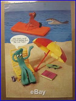 GUMBY /& POKEY Vintage 1985 Beach Poster