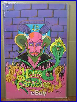 Vintage Hells Paradise 13 ORIG Black light Poster 2364