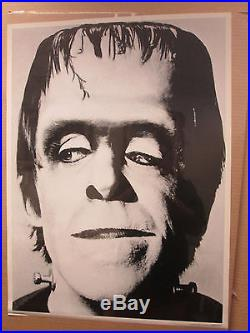 Vintage Herman Munster original tv show black and white poster 10239