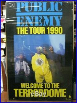 Vintage Hip hop school Rap poster Public Enemy the tour Terrordome 1990 13348