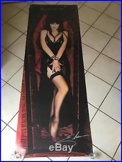 Vintage Huge 26 X 75 1989 Elvira Door Movie Poster / Horror