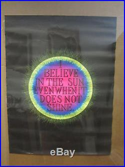 Vintage I Believe in the Sun blacklight poster 5075