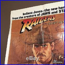Vintage Indiana Jones ORIGINAL MOVIE POSTER 1981