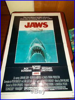 Vintage JAWS 1975 One Sheet Poster 27 by 41 NSS 75/155 Original