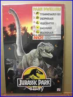 Vintage JURASSIC PARK Park Dwellers 1993 movie poster 1252