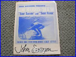 Vintage John Severson surf hi-lights 59 60 surf movie poster surfboard signed