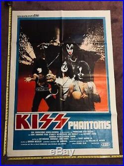Vintage KISS Attack of the Phantoms ITALIAN Movie Poster Original 39x55 HUGE