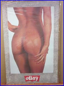 Vintage Levi advertisement Sam Maxwell Jeans poster Hot Girl denim Rare 11967