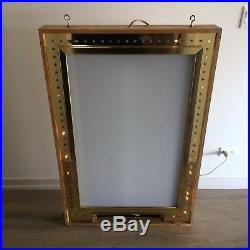 Vintage Marquee Movie Theatre Poster Lightbox Case Antique Chicago Home Theater