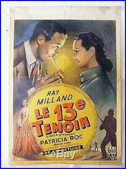 Vintage Movie Poster Circle Of Danger Ray Milland Belgium Rare