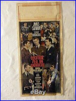Vintage Movie Poster Cocktail Per Un Cadavere Rope James Stewart Italian 1948
