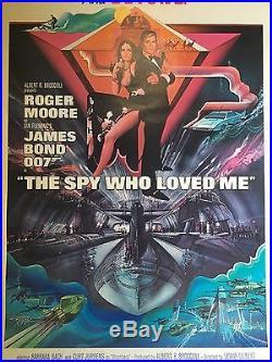 Vintage Movie Poster James Bond 007 The Spy Who Loved Me