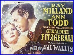 Vintage Movie Poster So Evil My Love Ray Milland Belgium