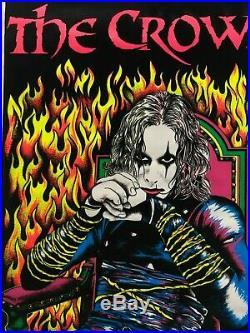 Vintage NOS Blacklight Poster The Crow Brandon Lee 1682 23 x 35 Rare Original