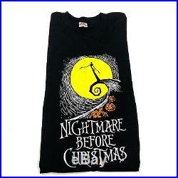 Vintage Nightmare Before Christmas T-Shirt 90s Tim Burton Movie Poster
