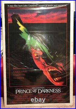 Vintage ORIGINAL MOVIE POSTER Prince of Darkness 1987 John Carpenter Horror P1