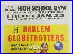 Vintage Original 1950s Harlem Globetrotters Great Falls Montana Poster 14x22