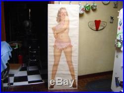 Vintage Original 1950s Life Size Pin Up Marilyn Monroe Bikini Poster 21.5X62