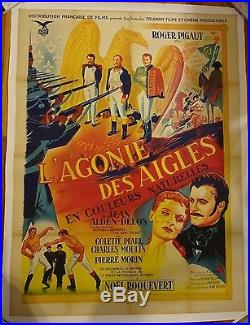 Vintage Original 1952 Napoleon Movie Poster The Death Agony of the Eagles